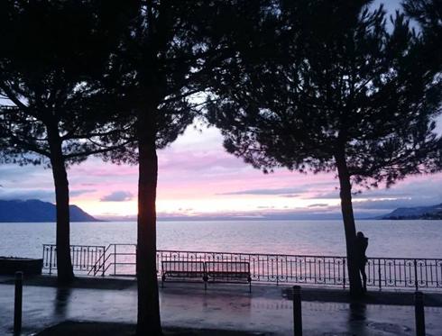 В Монтрё впечатляющие закаты