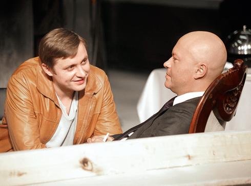 С Федором Бондарчуком в криминальной драме «ПираМММида»