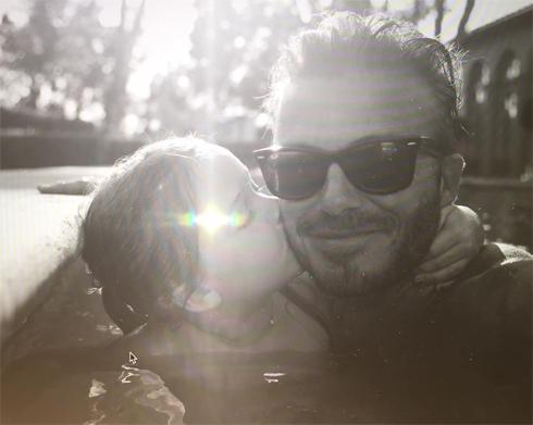 Дэвид Бекхэм поделился снимком с Харпер в честь ее дня рождения