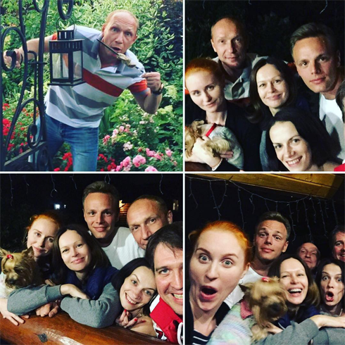 Ирина Безрукова прекрасно проводит время с друзьями-коллегами