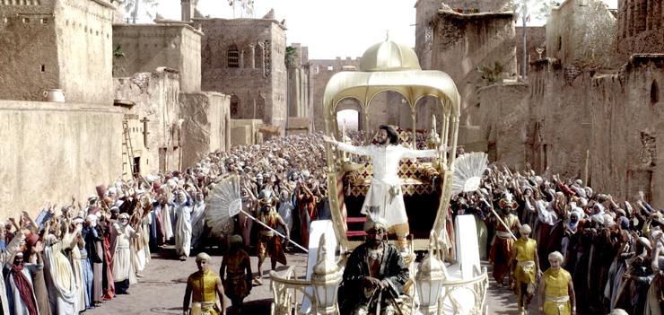 Съемки проходили в Марокко, причем в декорациях, использованных в фильме Ридли Скотта «Царство небесное