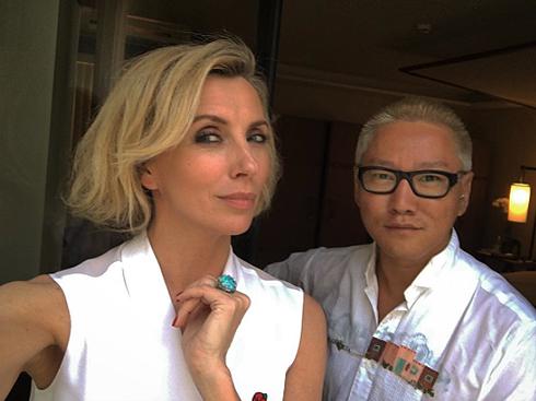 Светлана Бондарчук с новой прической и своим стилистом