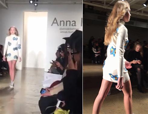 Соня Киперман приняла участие в модном показе дизайнера Анны К.