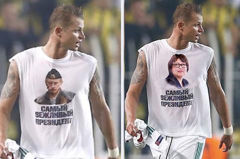 На Тарасова с футболкой в Интернете рисуют фотожабы