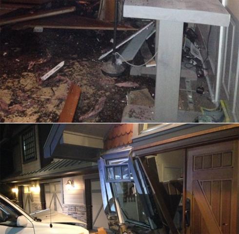 Машина виновницы аварии также сильно повреждена