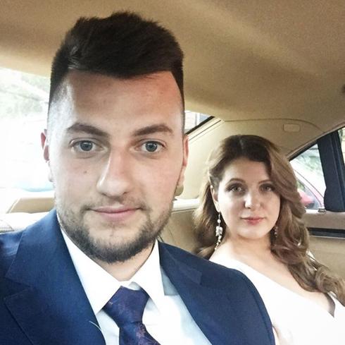 Молодожены Анастасия Денисова и Богдан Оська