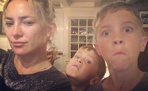 Кейт Хадсон с детьми