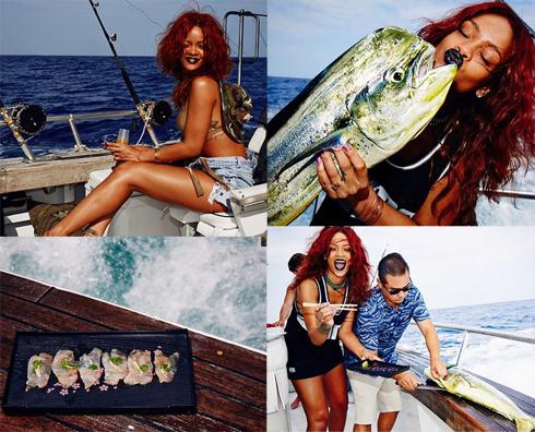 Рианна на рыбалке