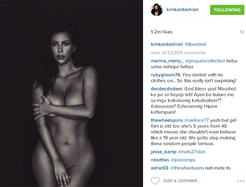 Ким Кардашьян советует женщинам любить себя и ничего не бояться