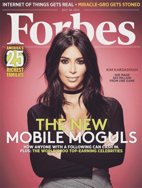 Ким Кардашьян оказалась на обложке Forbes