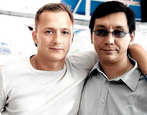 С двоюродным братом Степаном