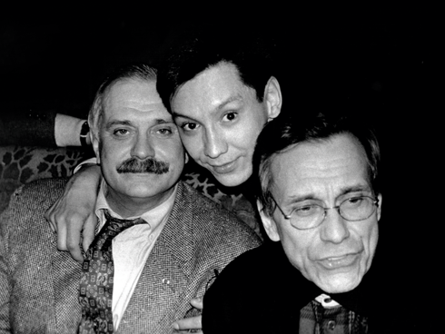 С дядей, Никитой Михалковым, и отцом Андроном Кончаловским