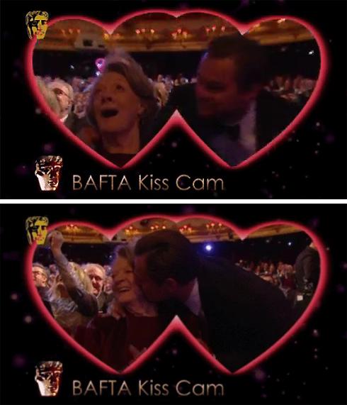 На премии BAFTA Леонардо Ди Каприо поцеловал Мэгги Смит