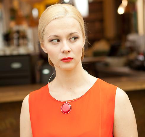 Екатерина Симаходская на съемках сериала «Лестница в небеса»