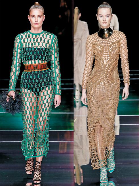 Вот уже несколько сезонов сетчатые платья заняли достойное место в модных коллекциях