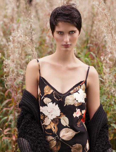 Платье-комбинация, WINCS; пальто, NUDE