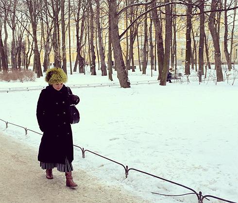 Прогулки по заснеженному Санкт-Петербургу не лучшим образом повлияли на здоровье Анны Нетребко