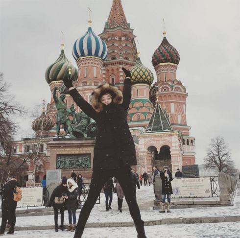 Мария Шарапова радуется снегу