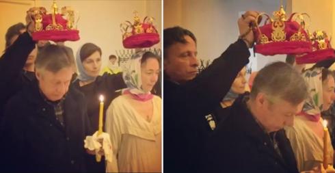 Иван Охлобыстин и его жена Оксана Арбузова стали свидетелями на венчании Ефремова и Кругликовой