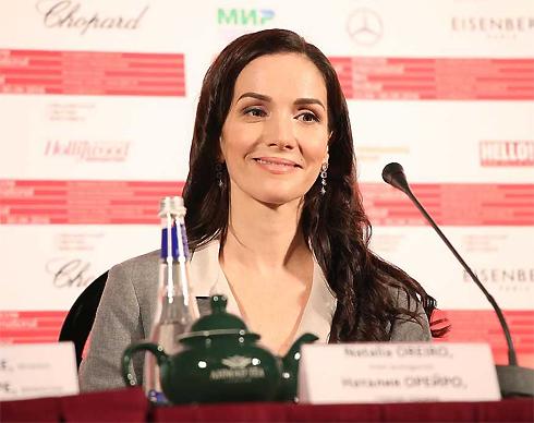 Наталья Орейро на пресс-конференции в Москве