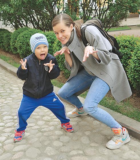 Катерина Шпица с сыном