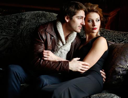 Михаил Пшеничный познакомился со своей супругой, актрисой Любавой Грешновой, на съемочной площадке