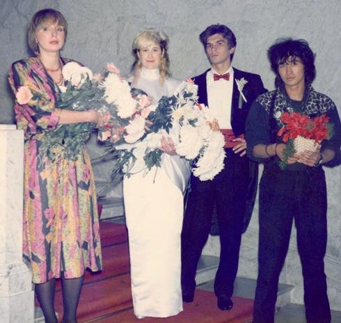 Свадьба Каспаряна и Стигрей. Марианна и Виктор Цой, 1987 год