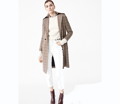 Пальто классического кроя - идеальный вариант для девушек с женственной фигурой