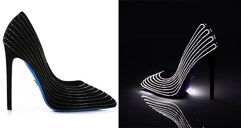 Яркая новинка этой осени - лимитированная коллекция туфель от бренда Loriblu, светящихся в темноте