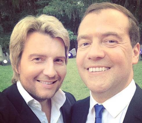 Николай Басков и Дмитрий Медведев