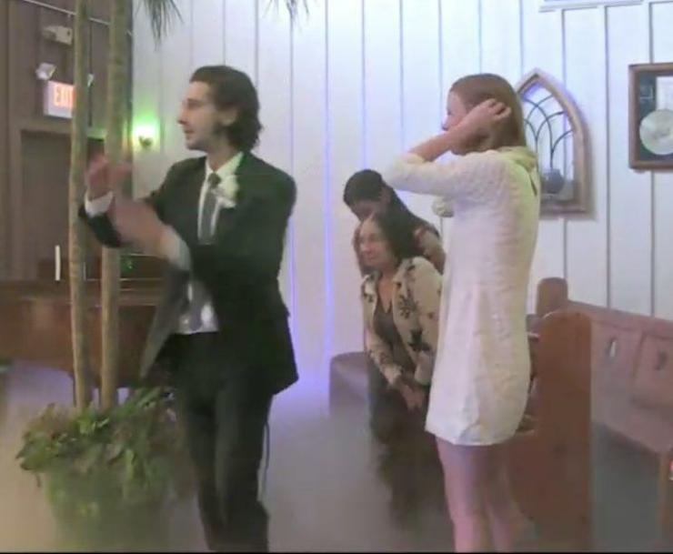 Звезда «Трансформеров» Шайа Лабаф женился наМии Гот