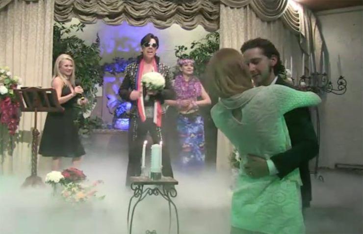 На свадьбе актеров присутствовал двойник Элвиса Пресли