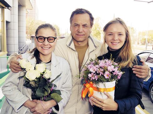 Мария Голубкина, Андрей Соколов и Мария Кононова