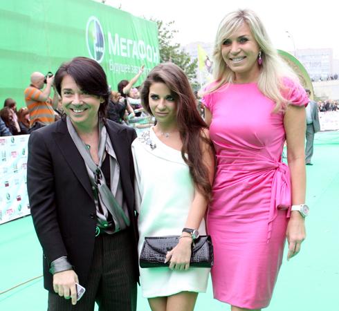 Валентин Юдашкин с женой Мариной и дочерью Галиной
