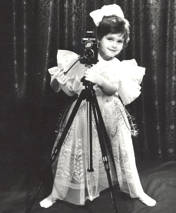 Анна Пескова в детстве