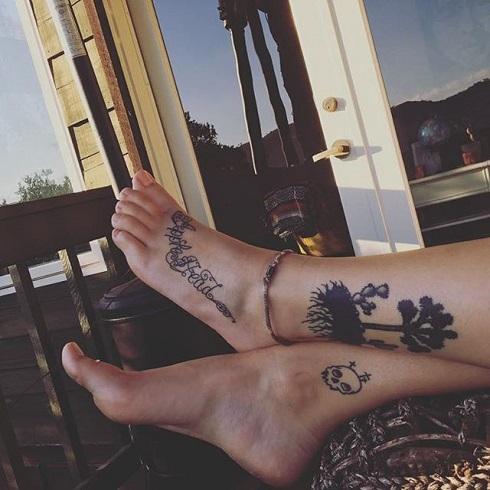 Дочь Майкла Джексона сделала новейшую татуировку вего честь