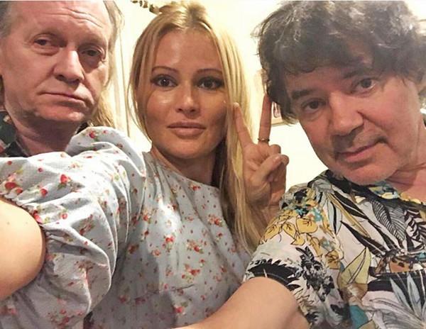 Крис Кельми с Даной Борисовой и Евгением Осиным