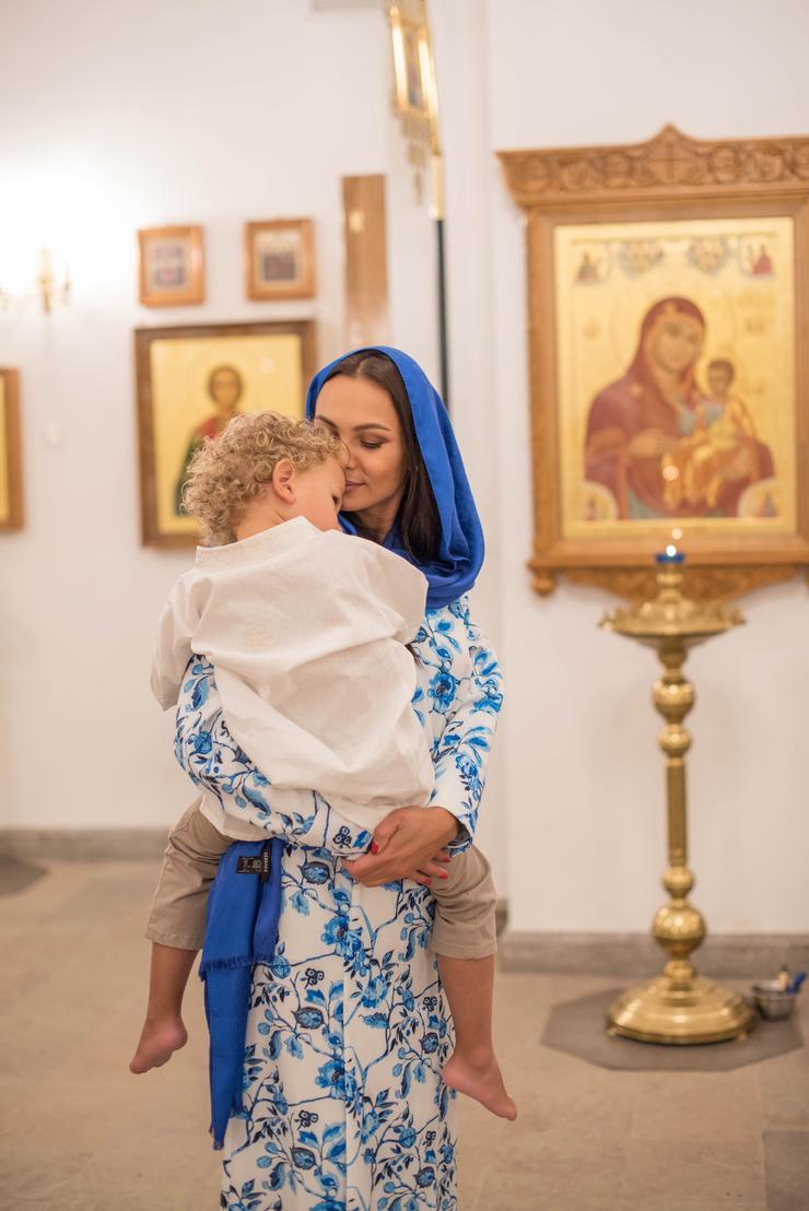 Инна и Юрий Жирковы крестили сына