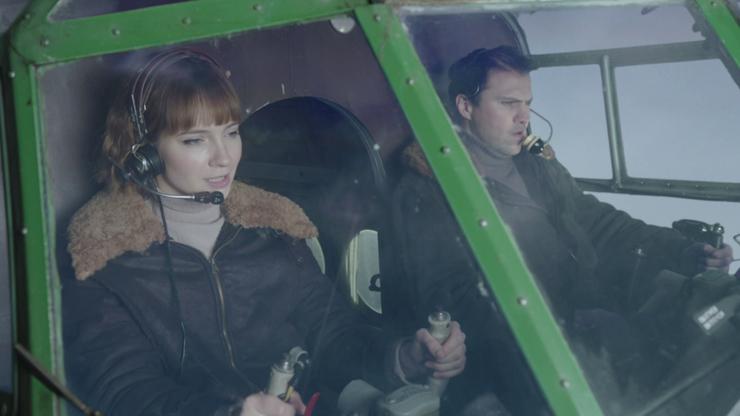 На съемках актрисе Марии Луговой пришлось летать на настоящих самолетах