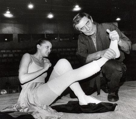 Борис Праздников с примой-балериной Большого Театра Галиной Степаненко