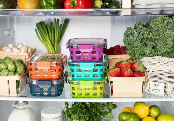 Распределите продукты по контейнерам