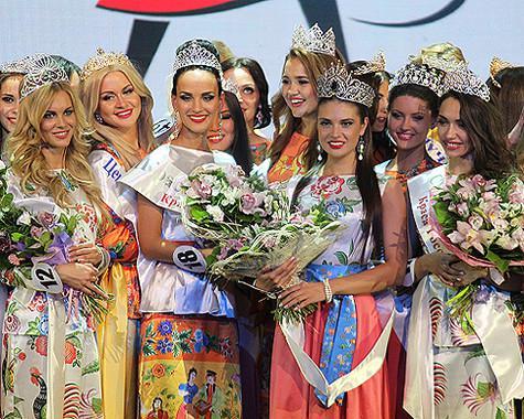Краса россии 2013 участницы женщина в красном матрица