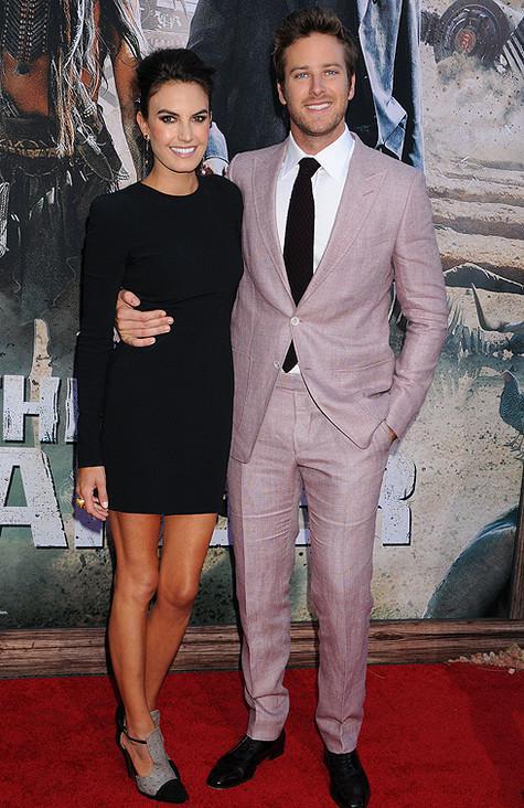 арми хаммер фото с женой