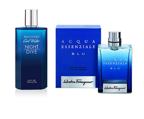 Davidoff Cool Water Night Dive и Acqua Essenziale Blu от Salvatore Ferragamo. Фото: материалы пресс-служб.